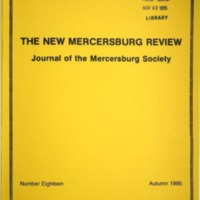 The New Mercersburg Review, no. 18