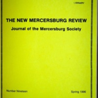 The New Mercersburg Review, no. 19