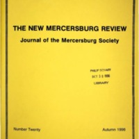 The New Mercersburg Review, no. 20