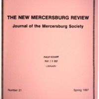 The New Mercersburg Review, no. 21