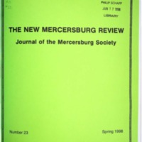 The New Mercersburg Review, no. 23