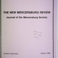 The New Mercersburg Review, no. 24