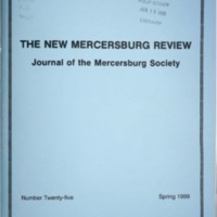 The New Mercersburg Review, no. 25