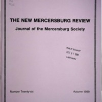 The New Mercersburg Review, no. 26