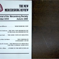 The New Mercersburg Review, no. 27