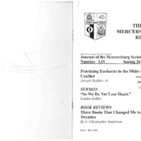 The New Mercersburg Review, no. 54