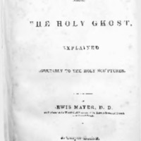 The sin against the Holy Ghost : explained agreeably to the Holy Scriptures