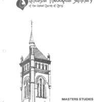 Masters Studies Handbook 1979-1980