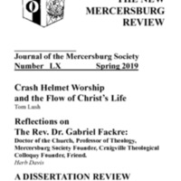 The New Mercersburg Review, no. 60