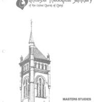 Masters Studies Handbook 1981-82