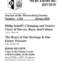 The New Mercersburg Review, no. 62