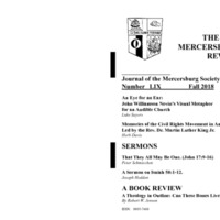 The New Mercersburg Review, no. 59