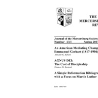 The New Mercersburg Review, no. 56