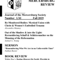 The New Mercersburg Review, no. 61