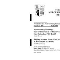 The New Mercersburg Review, no. 55