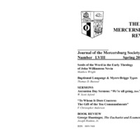 The New Mercersburg Review, no. 58