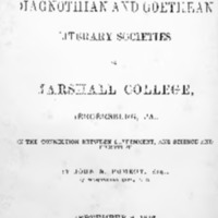 The annual address delivered before the Diagnothian and Goethean literary societies of Marshall College, Mercersburg, Pa., on the connection between government, and science and literature