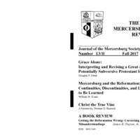 The New Mercersburg Review, no. 57