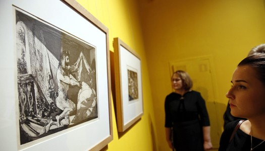 Exposición de grabados de los pintores españoles Goya y Picasso. LAPRENSA/EFE