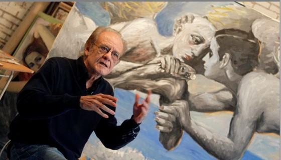 El cantautor, poeta y pintor Luis Eduardo Aute en su taller de pintura. LAPRENSA/EFE