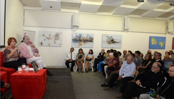 La novela La princesa Paca fue presentada por Rosa Villacastín y Manuel Francisco Reina, en el Instituto Nicaragüense de Cultura Hispánica. LAPRENSA/ROBERTO FONSECA.