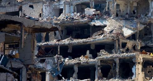 Homs, Siria, una de las zonas más afectadas por la guerra. LA PRENSA/AP Photo/Hassan Ammar