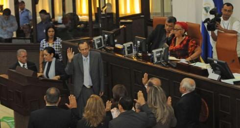 El nueve de abril de 2014, cuando la Asamblea Nacional dominada por el FSLN eligió al actual colegio de contralores.