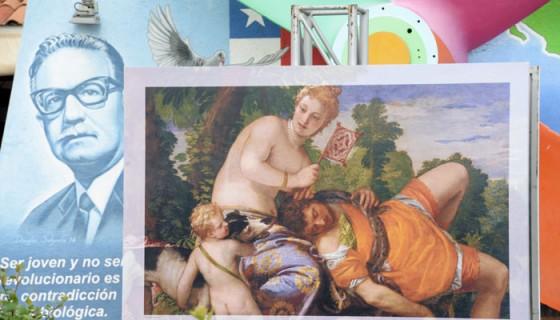 """La obra """"Venus y Adonis"""", de Veronés, en el puerto Salvador Allende de Managua. LA PRENSA/Uriel Molina."""