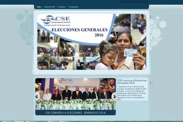 página web, CSE, elecciones