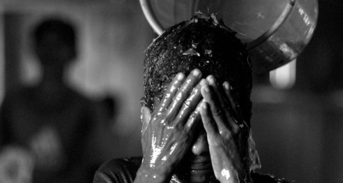 Ritual contra el grisi siknis en Raití. LA PRENSA/Oscar Navarrete.