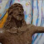 Cristo, escultura del maestro Fernando Saravia.