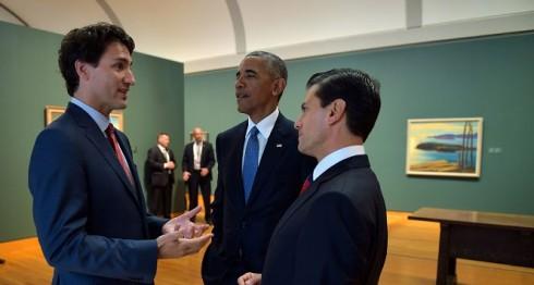 Peña Nieto, Obama y Trudeau