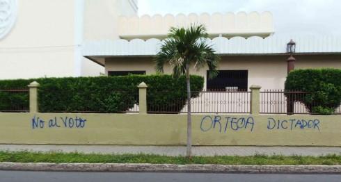 pintas, Daniel Ortega, #EleccionesNi2016, Daniel Ortega