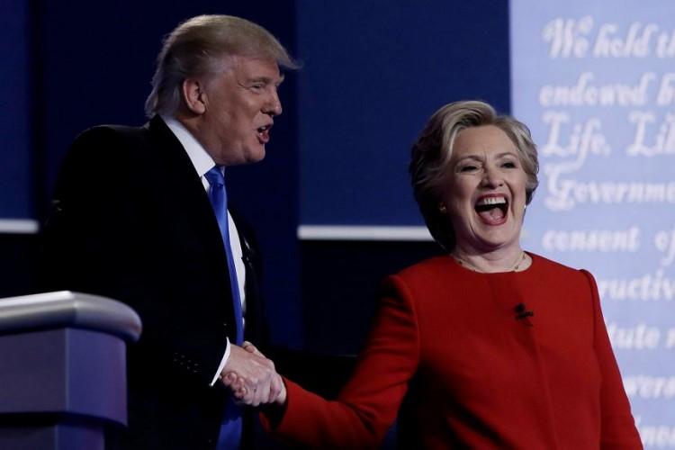 Trump, debate presidencial, Clinton