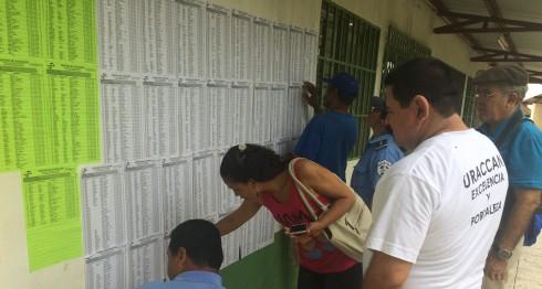 Padrón electoral, candidatos de municipales