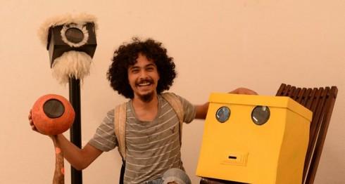 Esculturas con videos animados, de Carlos Báez. LAPRENSA/URIEL MOLINA
