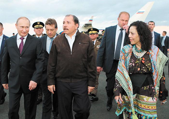 Vladimir Putin, presidente de Rusia, visitó fugazmente Nicaragua en julio de 2014. Daniel Ortega, su homólogo nica, lo recibió durante un par de horas. Foto: LA PRENSA/Cortesía.