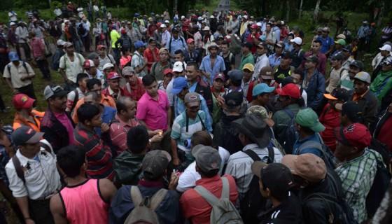 represión policial, marcha contra el canal, caravana anticanal
