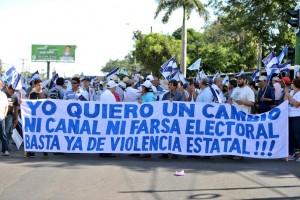 marcha, Managua, OEA, farsa electoral