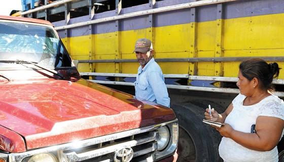 Los vehículos de doña Francisca Ramírez fueron ocupados por la Policía el 29 de noviembre y fueron entregados hasta este sábado. La Prensa/ Carlos Valle