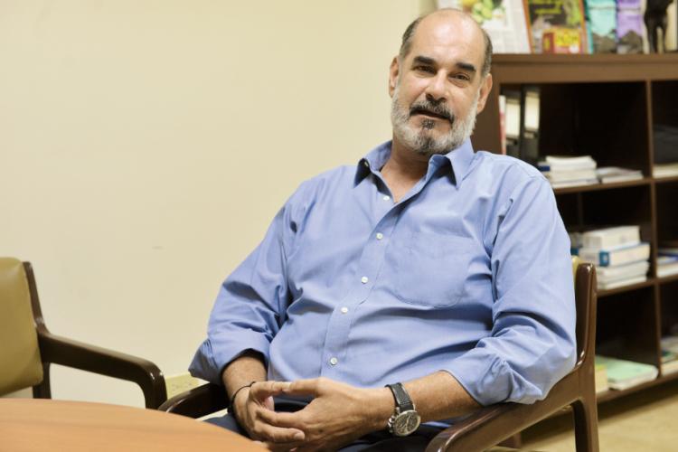 Michael Healy, presidente de Upanic habla sobre la lucha de los campesinos. LA PRENSA/ Jader Flores