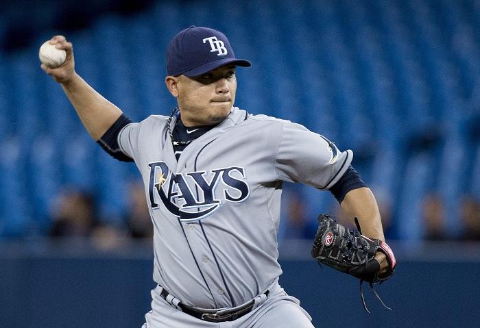 Erasmo Ramírez llegó a un acuerdo con los Rays de Tampa Bay, quienes evitaron el arbitraje salarial. LA PRENSA/Nathan Denette/The Canadian Press via AP