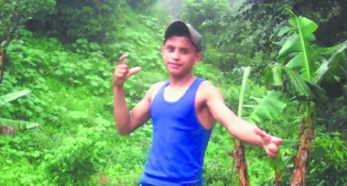 Oneyvin Oniel Borge Acuña se tomó esta foto momentos antes de ser decapitado en Maleconcito, en Wiwilí, Jinotega. No conocía a su agresor José Hilario Olivas Umanzor. LA PRENSA/ CORTESÍA