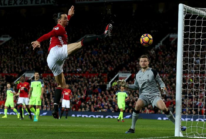 Zlatan Ibrahimovic ha llegado al fin de su camino con el Mánchester United en la Liga Premier. LA PRENSA/EFE
