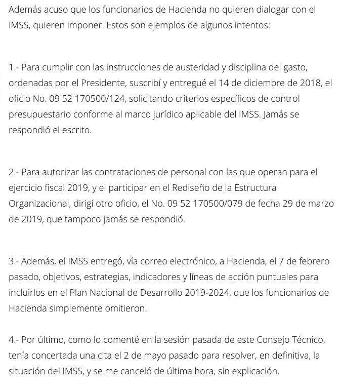 Renuncia de Germán Martínez