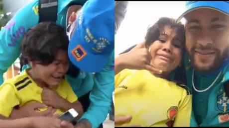 Neymar hace llorar a un niño.jpg