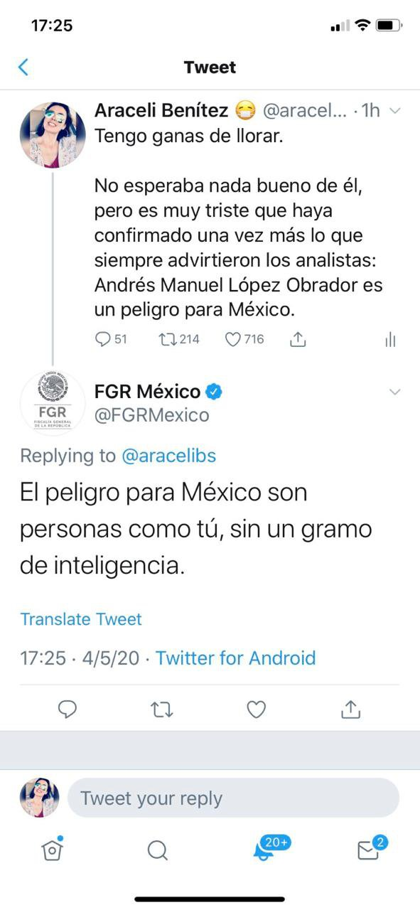 fgr insultó