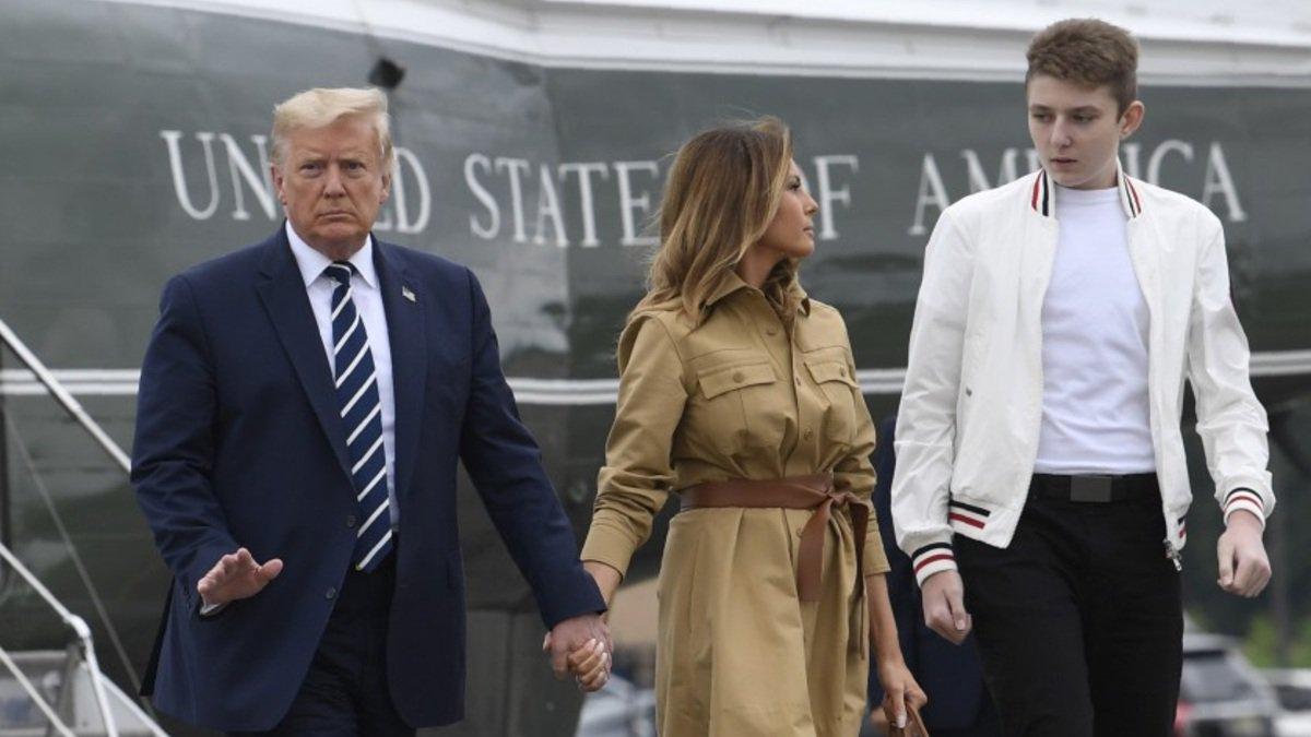 Barron, hijo de Donald Trump, da positivo a Covid-19