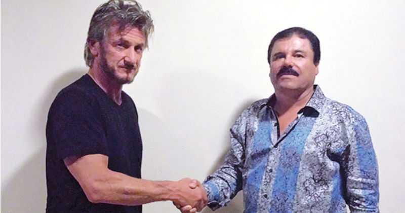 Sean Penn con 'El Chapo'.