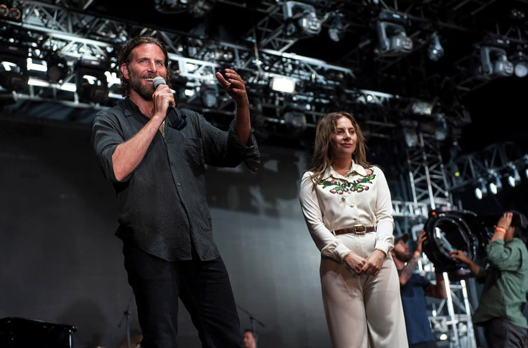 Bradley Cooper y Lady Gaga en la película 'A Star Is Born'